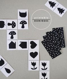 DIY FRee Printable Dominoes for Kids