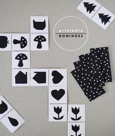 Un jeu de domino à imprimer en ligne pour jouer #freeprintable #domino #DIY #kids #crafts #enfants