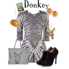 Donkey - Shrek, created by marybethschultz on Polyvore