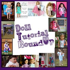 Doll Tutorial Roundup - - all the american doll things on my to-make list!