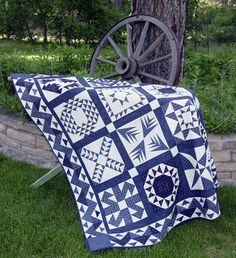 Roaring 20's Blue quilt by Carolyn Cullinan McCormick