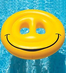 Swimline® Smiley Face Inflatable Island Pool Lounger