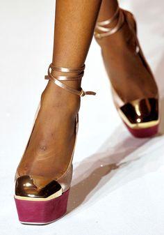 yves saint laurent shoe detail