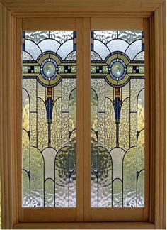 Dollhouse Miniature 1:12 Scale leaded glass french doors!