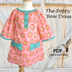 Peasant Dress PDF sewing pattern Girls by MyChildhoodTreasures, $6.95 pattern girl, dress patterns, baby sewing, sew pattern, children sewing patterns, girls sewing patterns, peasant dress, kid, dress sew