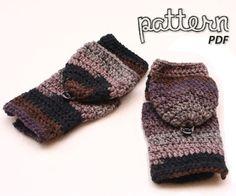 Crochet Pattern Fingerless Mitten with Flaps