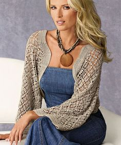 Crochet Bolero Pattern on Pinterest