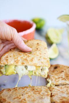 Margarita Chicken Quesadilla with Margarita Guacamole