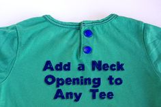 Adding a Neck Opening to a Tee - Tutorial