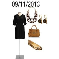 """Black & Leopard: Wednesday, September 11, 2013"" by josiegirl77 on Polyvore"