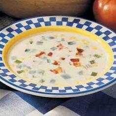 Creamy Corn Chowder - I would add potatoes diced. Chowder Recip, Corn Chowder