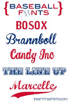6 Free Baseball Fonts - I Heart Free Fonts  ~~ {w/ easy download links}