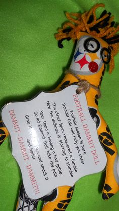 Pittsburg Steelers Dammit Doll by tobeesgifts on Etsy, $18.95
