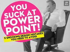 The 5 PowerPoint design mistakes that activate your gag reflex are:  Too much info Not enough visuals Horrible quality Visual vomit Lack of prep
