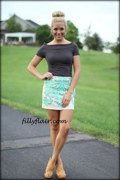 Headed for the Ritz - Filly Flair #mint #skirt
