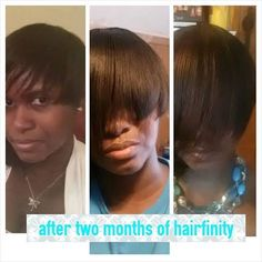 "Look at the progress Hairfinity user Marie Gogettress Brown has made with her hair journey! She said: ""So loving this journey. Started month three today.""  See more testimonials at www.hairfinity.com.  #Hairfinity"