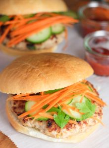 Thai Chicken Burger with Kicked up Ketchup