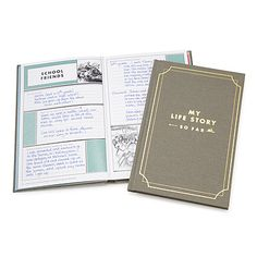 Look what I found at UncommonGoods: my life story - so far...