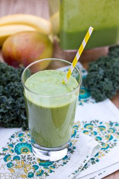Healthy Green Smoothie Recipe that Tastes Good! | ASpicyPerspective.com #smoothie #health #greenfood