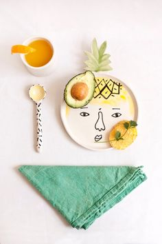 Pina Colada Plate by lamalconttenta on Etsy, €25.00