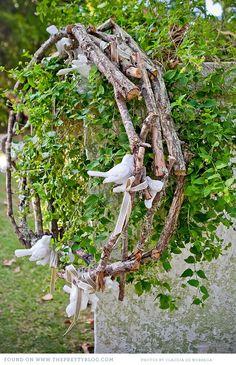 Rustic bird wreath