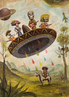 sergio mora, el árbol, sombrero, los muerto, the artist, dia de, de los, dead, thing mexican