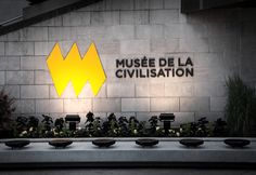 Signage for Musée de la civilisation designed by lg2 boutique.