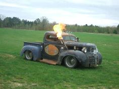 1 HOT RAT ROD HERE car, trucks, rat rods, bad ass, ratrod, fire truck, hot rod, rats, eye