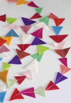 DIY Felt Triangle Garland #crafts