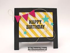 Birthday Chalkboard Greetings, Blueprints 17 Die-namics, Stacking Stars Die-namics - Amy Rohl #mftstamps