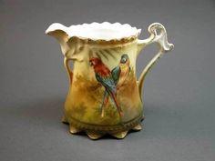 RARE R s Prussia Parrot Creamer Exotic Bird Excellent | eBay