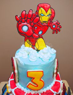 ironman cake topper | Flickr - Photo Sharing!