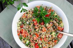 Tabouli ... great as a healthy salad, dip, or sandwich filling.