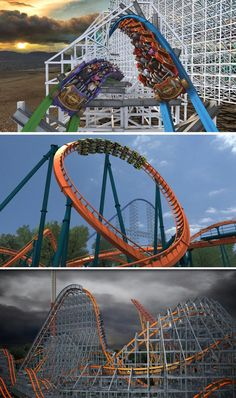 The roller coasters