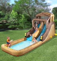 move over slip 39 n slide hammacher schlemmer 39 s inflatable water ride