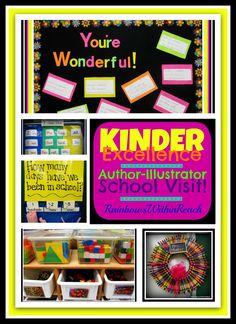 Kindergarten Excellence (bulletin board, anchor chart, visual schedule +++) via RainbowsWithinReach