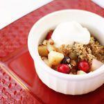 Cranberry, Pear, and Apple Crisp