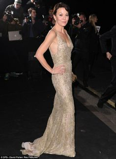 Helen McCrory + gown