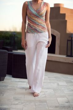 Washable Linen Pants.  Looking for the perfect pair?  In white and black.  Petite length and long.  $98.