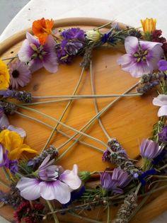 lovely flower pentacle
