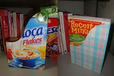 Como Fazer um Organizador de Revistas Reciclando Caixas de Cereais Matinais: