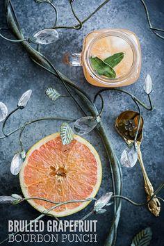 Bruleed Grapefruit Bourbon Punch