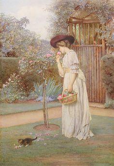 The vicars rose garden. Charles Edward Wilson. English (1854-1941)