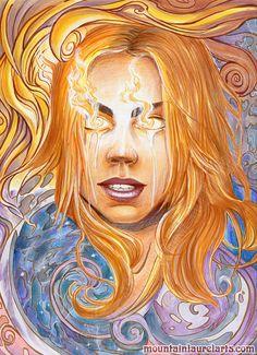 Rose Tyler - Bad Wolf - Doctor Who Fan Art Marker Illustration via Etsy