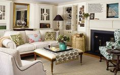 cottage style living room ~ Michael Aiduss. For gorgeous inspiration and beautiful  homewares, shop at www.achica.com