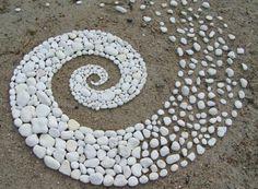 White stone spiral.