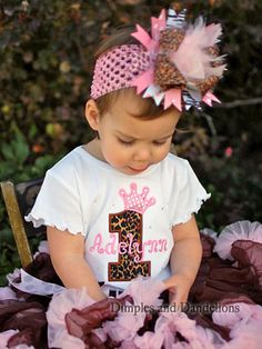 Leopard Number with Crown Personalized Birthday Tee