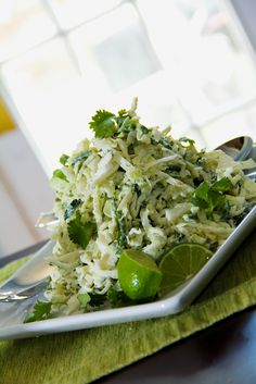 Cilantro Lime Slaw | omg! I love coleslaw and I love cilantro/lime. This is happening this summer for sure!
