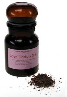 hot chocolate love potion No. 9 bottle by Artisan du Chocolat
