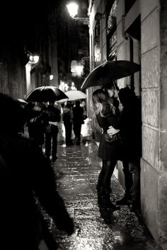 every girl wants to be kissed in the rain